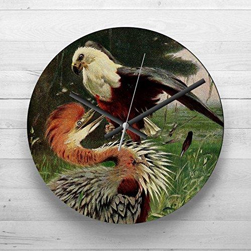 large-32cm-analog-wall-clock-vintage-w-kuhnert-giant-heron-sea-eagle-silent-non-ticking-quartz-movem