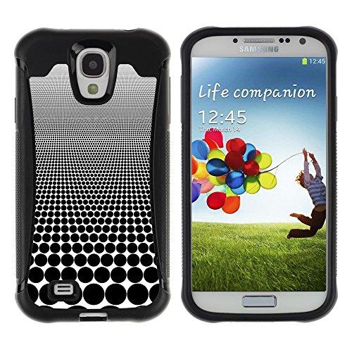 iArmor HYBRID Hülle Bumper Schutzhülle / Optical Visual Illusion Pattern Black Spots / Samsung Galaxy S4 I9500