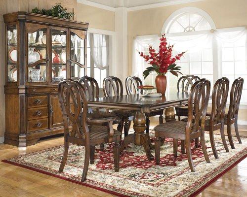 8 pc hamlyn rectangular double pedestal table dining room
