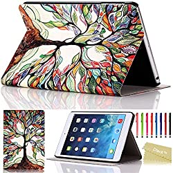 iPad Mini Case, iPad Mini / Mini 2 Retina/ Mini 3 Case Cover, [2014 Release] Dteck TM Fashion Vintage Design Flip PU Leather Smart Cute Stand Case, with Groove to Stand Well, Automatic Wake/ Sleep Function Full Body Protective Case Cover for Apple iPad Mini 1/2/3 (Compatible with 7.9 Inch Tablet) with Long Random Color High Quality Touch Screen Stylus & Cleaning Cloth [Kid s Gift]