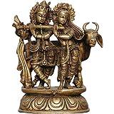 Antikes Und Sammlerst�cke - Hinduistischen Gott Rama Sita Und Laxman Messing Skulptur