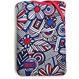 BUILT Kindle Fire Neoprene Twist Sleeve, Mosaic Flower, Blue ~ Built NY
