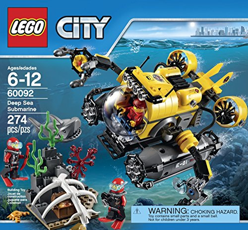 LEGO-City-Deep-Sea-Explorers-60092-Submarine-Building-Kit