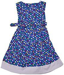 Apsara Girls' Dress (Royal Blue, 4-6 Years)