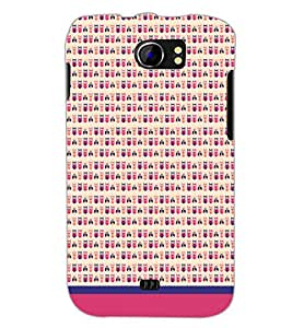 PrintDhaba Owl Pattern D-1667 Back Case Cover for MICROMAX A110Q CANVAS 2 PLUS (Multi-Coloured)