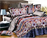 Super India Printed Micro Fiber Double Bed Comforter/Quilt set with two pillow cases (King Fisher)