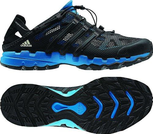 1 adidas outdoor hydroterra shandal scarpa uomini neri / craft blu