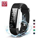 Fitness Tracker,KEDA Activity Tracker Watch Smartband Sport Wristband With Heart Rate Monitor,IP67 Waterproof Smart Bracelet With Pedometer Calorie Counter For IOS & Android Smartphone (Black)