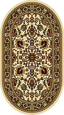 Home Dynamix 8079-100 Royalty Collection Oval Area Rugs, 31 by 50-Inch, Ivory