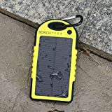 Borch Solar Panel Charger Cell Phone Portable Charger 5000mah Power Bank and Travel Charger. Utilizing Both Solar And/or Electrical Energy to Fully Charge Wireless Devices on the Go. Shockproof, Dustproof & Rainproof Provides the Freedom to Travel Anywhere with the Borch Solar Power Charger. External Battery Pack Compatible with Iphone 6 5.5 4.7 Inch 5s 5c 5 4s 4, Ipad Air, Other Ipads, Ipods(apple Adapters Not Included), Samsung Galaxy S5, S4, S3, Note 3, Note 4 Galaxy Tab 3, 2, Nexus 4, 5, 7, 10, HTC One, One 2 HTC One M8 ,Motorola Atrix, Droid , Lg Optimus, Most Kinds of Android Smart Phones and Tablets,windows Phone, Gopro Camera and More Other Kindle, Nook, and All Standard USB 5v/1a Devices. (Yellow)