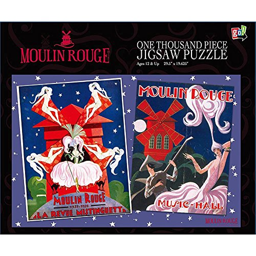 Moulin Rouge Blue Poster 1000 Piece Puzzle by Go! Games - 1