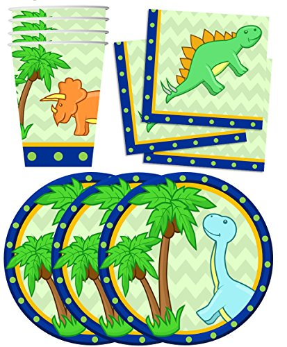 Little-Dino-Dinosaur-Birthday-Party-Supplies-Set-Plates-Napkins-Cups-Tableware-Kit-for-16