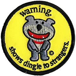 Old Glory Unisex-Adult Dog Of Glee - Warning Dingle Patch Nylon Accessory from Old Glory