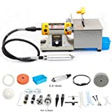 350W TM-2 Mini Multi Purpose Jewelry Rock Polishing Buffer Machine Bench Lathe & Polisher Tool Kits & Jade Cutter Cutting Machine - 110Volt (Color: grey)