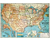Cavallini Decorative Paper - USA Map 20