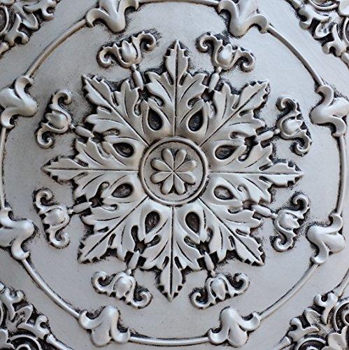 PL18 imitation peinture 3D dalles de plafond Blanc antique relief Café pub shop Panneaux muraux de décoration 10pieces/lot