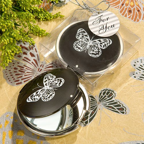 Baby Keepsake: Elegant Reflections Collection butterfly mirror compact favors