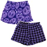 Fancy Girlz Peace Houndstooth Two Plush Pajama Shorts for Big Girls'