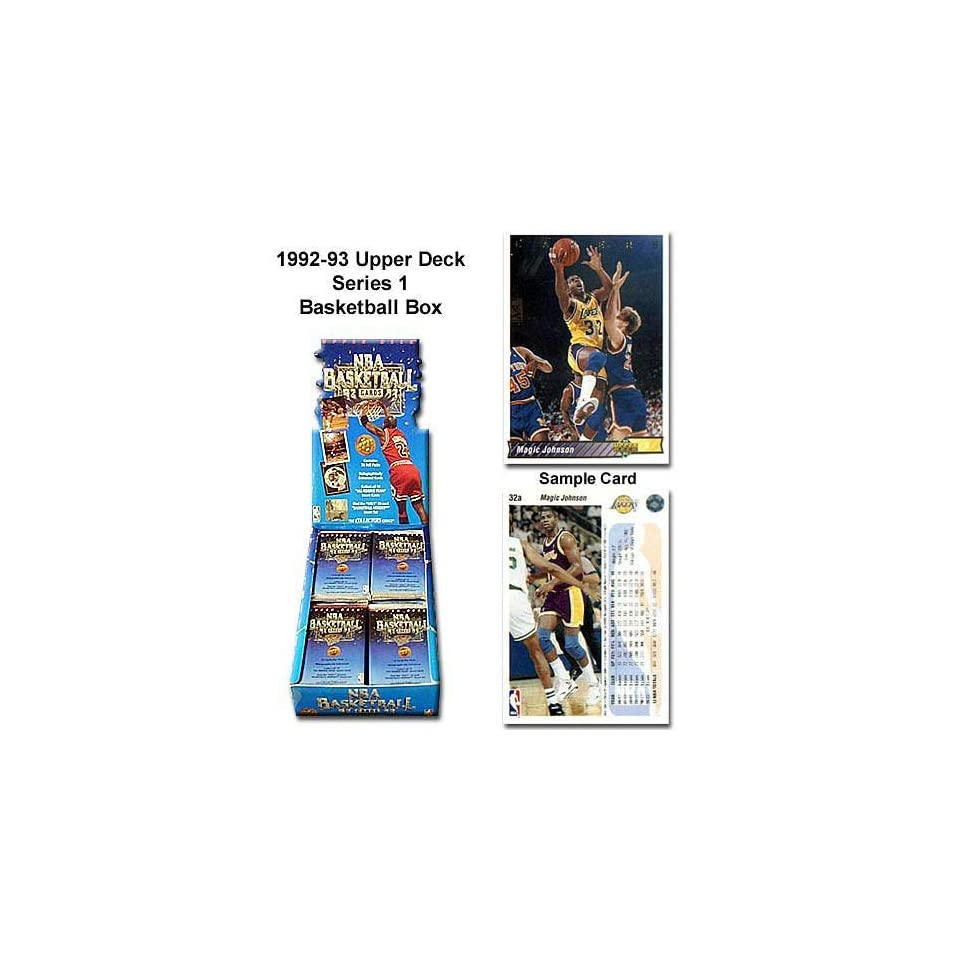 Upper Deck 1992 93 NBA Series One Unopened Trading Card Box
