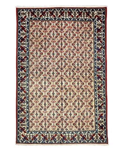 Darya Rugs Authentic Persian Rug, Ivory, 6' x 9'