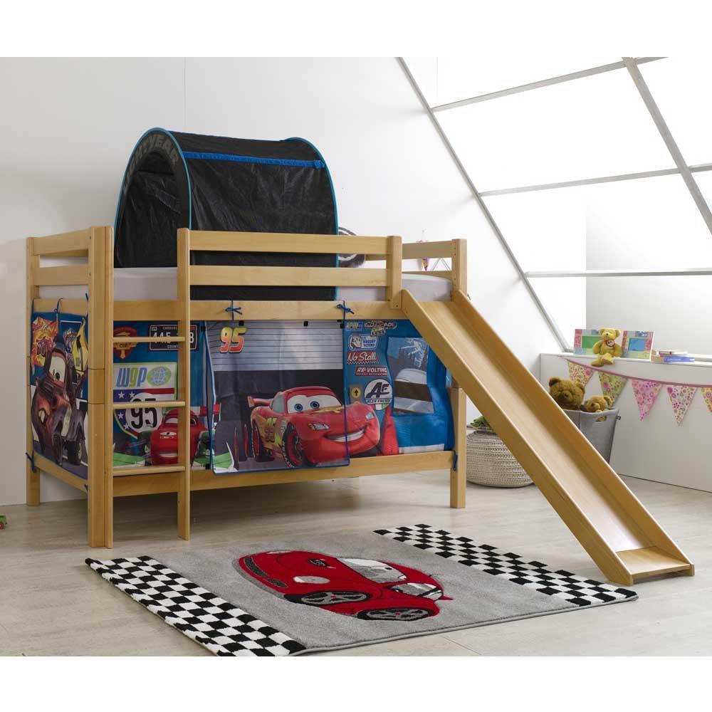 Kinderhochbett im Cars Design Rutsche Pharao24 online kaufen