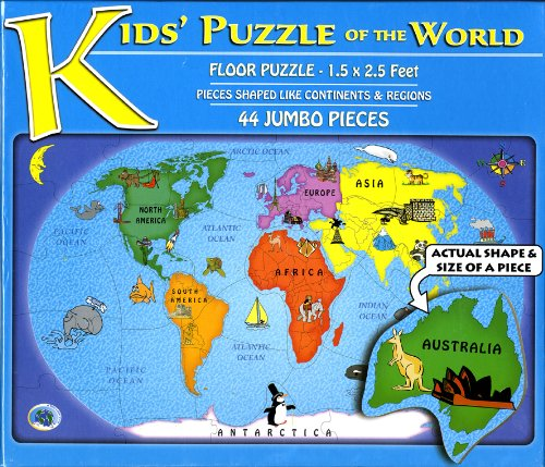 "Cheap A Broader View Kids"" 44-Piece Puzzle of the World (B003A06Q3C)"