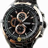 CURREN Stylish Mens Wrist Watch 8023 Rosegold Black