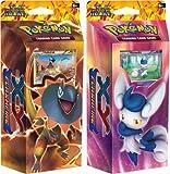BOTH DECKS - Pokemon 2014 Nintendo TCG Card Game XY2: FLASHFIRE Theme Decks - Meowstic & Heliolisk