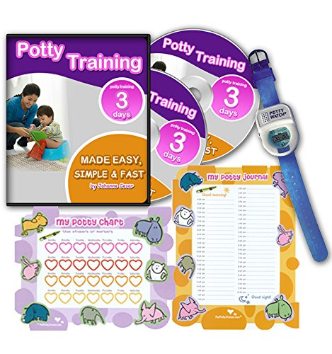 Ultimate Potty Training for Boys. Complete Kit Includes Potty Training In 3 Days Audio Guide, Laminated Potty Training Charts & Blue Potty Time Watch (Blue)
