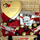 Ferrero Valentines Chocolate Love Hamper - Ferrero Rocher, Ferrero Raffaello & Rondnoir Hamper - Romantic Gift - By Moreton Gifts - Premium Gift