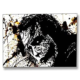 Neron Art - Hand painted Pop Art Oil Painting on Rolled Canvas for Living Room Wall Decor - Joker 48X34 inch