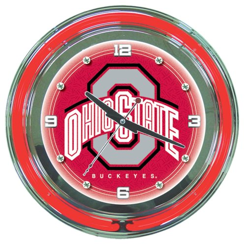 NCAA Ohio State 14-Inch Diameter Neon Clock at Amazon.com
