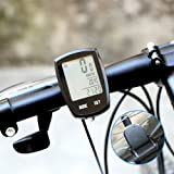 Thorfire Bike Computer Wireless, Bicycle Speedometer and Odometer Waterproof Cycle Computer with LCD Backlight Display, Automatic Wake-up, Multi-Funct