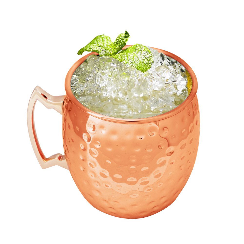 Asiacraft oz copper hammered moscow mule inside nickel