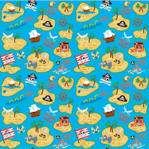 Amscan 220697 Pirate Gift Wrapping Paper