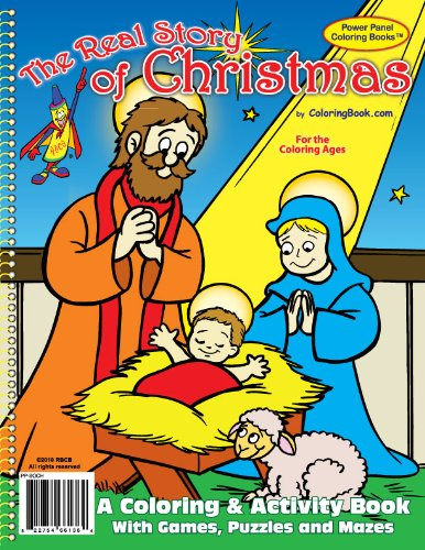 The Real Story of Christmas Coloring Book (8.5x11)