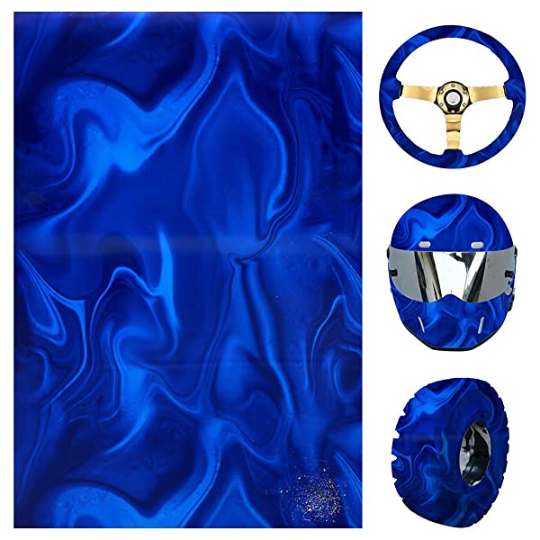 ZHENXI Water Transfer Hydrographic Film - Hydro Dipping Hydro Dip Film for Decor - Great for Use on Automotive Parts, Rims, Cups (Tamaño: Small)