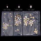100pcs Mix 3 Sizes Crystal AB Flat Back Nail Rhombus Foiled Diamond Shape Rhinestone Nail Art Stones and Charms Supplies
