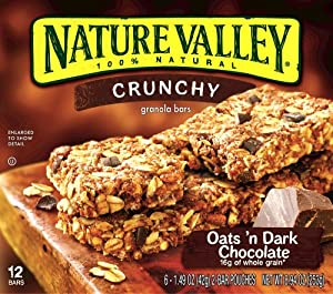 Nature Valley Oat's 'n Dark Chocolate Granola Bar, 8.94-Ounce, (Pack of 6)
