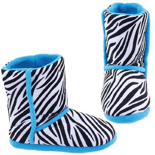 Cheap Zebra Print Bootie Style Slippers for Women (B007FVTTXQ)