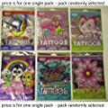 Savvi girls theme temporary tattoos - 50 assorted designs x 1 single pack
