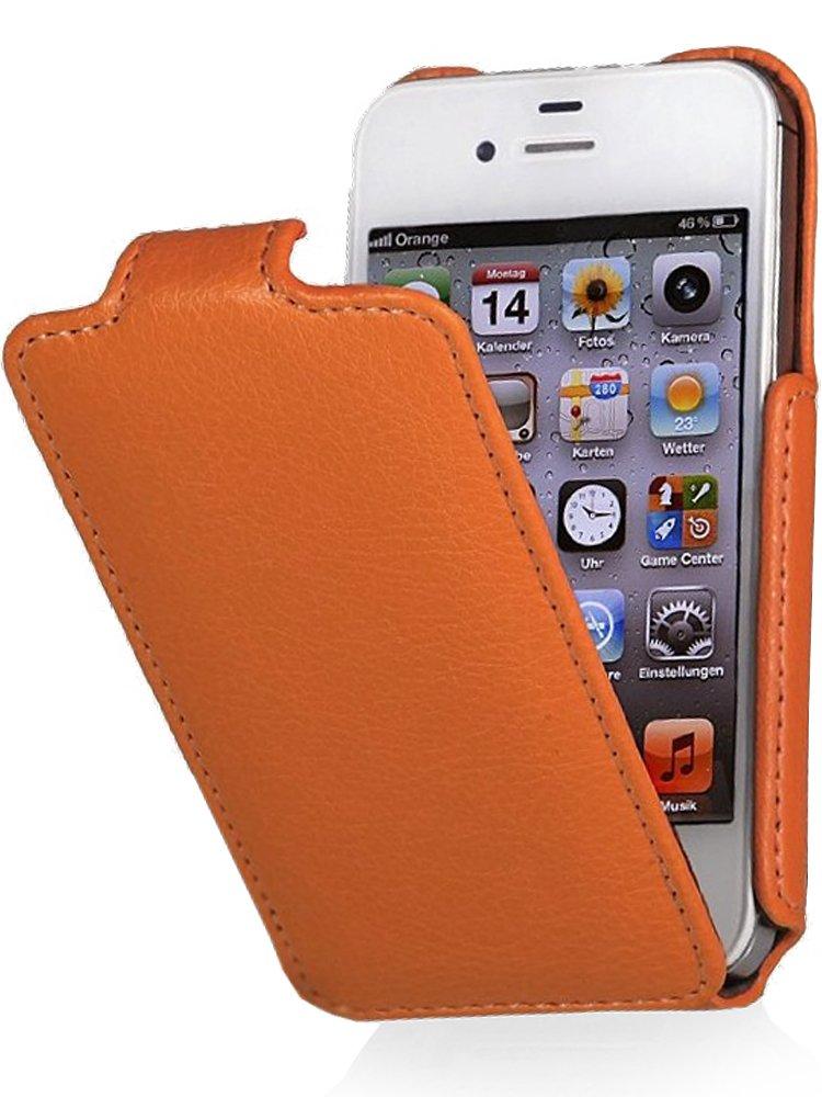 StilGut® Slim Case funda para iPhone 4 & iPhone 4s con válvula, en anaranjado  Electrónica Comentarios y descripción más