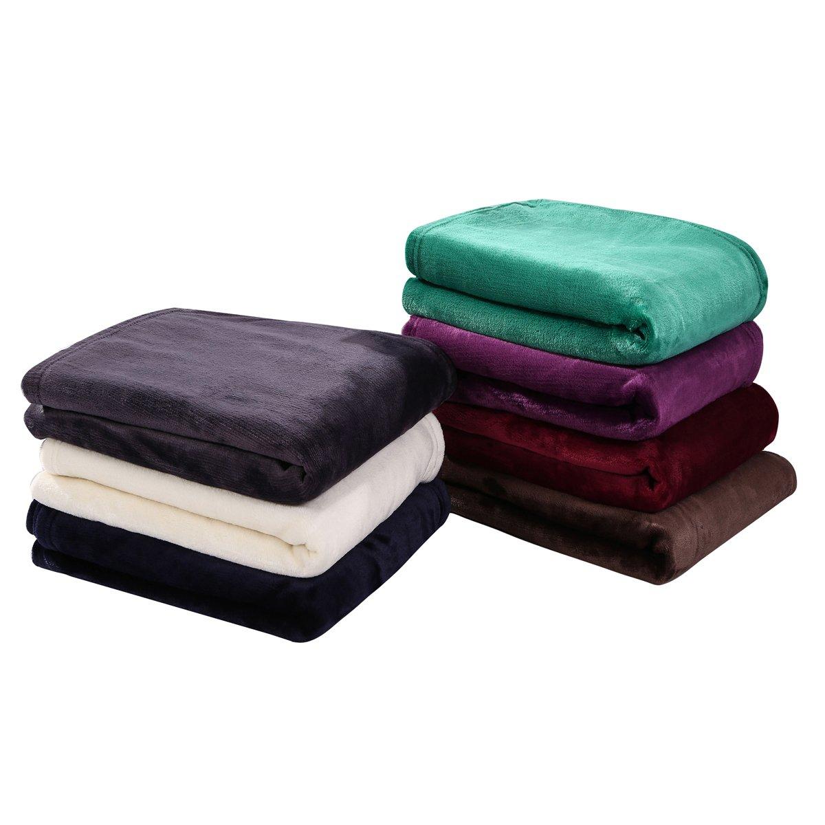 HYSEAS Velvet Plush Throw, Home Fleece Throw Blanket, 50 by 60-Inch, Teal