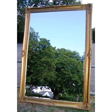 "Huge Double Framed Gold Gilt Belle Mirror (6ft 10"" x 4ft 10"")"