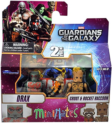 Guardians of The Galaxy Minimates Series 57 Mini Figure 3-Pack Drax, Rocket & Groot - 1