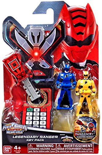 Power Rangers Super Megaforce - Jungle Fury Legendary Ranger Key Pack, Red/Blue/Yellow