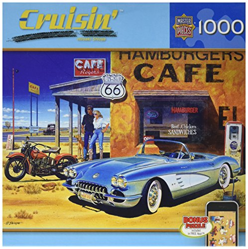 Masterpieces Route 66 Cafe Cruisin' Jigsaw Puzzle (1000-Piece)