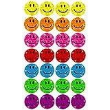 Oblique-Unique® - 112 x Glitzer Sticker Smile - Regenbogen Sticker für Kinder hergestellt von Oblique-Unique®
