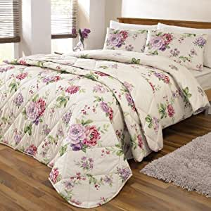 Classic Shabby Chic Floral Print Bedding Duvet Quilt Cover