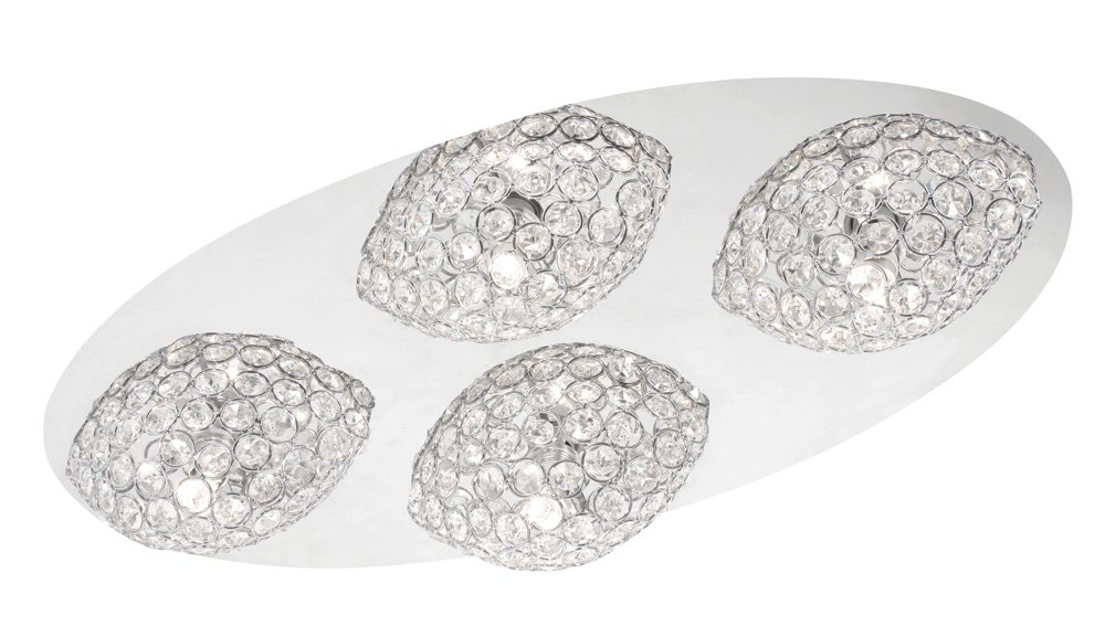 Oaks Lighting Damen-Armreif Linnea Chrom Deckenleuchte mit 4 Lampen